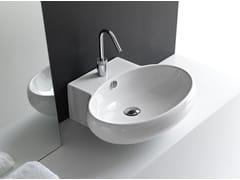 - Oval ceramic washbasin TAO | Countertop washbasin - Hidra Ceramica