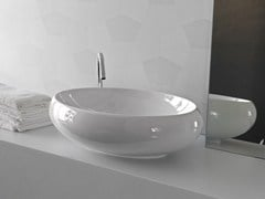 - Countertop ceramic washbasin TAO | Oval washbasin - Hidra Ceramica