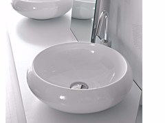 - Countertop ceramic washbasin TAO | Round washbasin - Hidra Ceramica