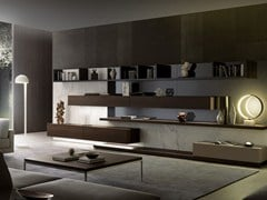 - Sectional storage wall with integrated lighting TAO10 - MisuraEmme