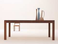 - Extending rectangular walnut table '900 SCACCHI | Walnut table - Morelato