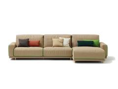 - Fabric sofa TECNO | Sofa with chaise longue - SANCAL