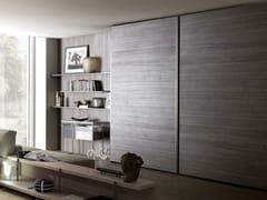 - Sectional wardrobe with coplanar doors TECNO WOOD | Wardrobe with coplanar doors - MisuraEmme