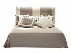 - Fabric double bed with upholstered headboard TERRAD'OMBRA | Bed - SOFTHOUSE
