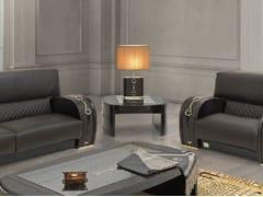 - Tavolino basso quadrato in pelle da salotto TEXAS PLUS | Tavolino quadrato - Formitalia Group