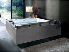 Vasca da bagno idromassaggio rettangolare in acrilicoTHAIS ART - BLUBLEU