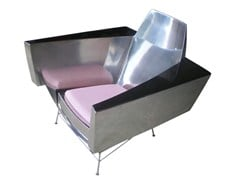 - Stainless steel armchair with armrests THE HOT SEAT - ICI ET LÀ