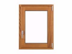 Finestra ad anta-ribalta con doppio vetro in alluminio e legno THERMIC -