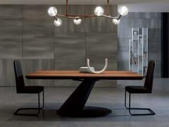 - Extending rectangular wooden dining table THOR - Ozzio Italia