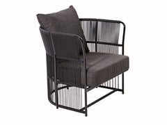 - Armchair with armrests and synthetic fiber weaving TIBIDABO | Armchair - Varaschin