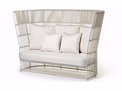 - High-back sofa with synthetic fiber weaving TIBIDABO | High-back sofa - Varaschin