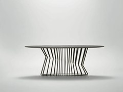- Oval metal dining table TIE | Oval table - da a