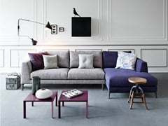 - Fabric sofa with chaise longue TIME | Sofa - PIANCA