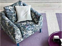 - Upholstered fabric armchair with armrests TIME | Armchair - PIANCA