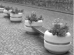 - Bench with Integrated Planter TIMELESS COMBINED 820/1220/1620 - Bellitalia