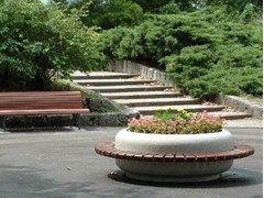 - Round Bench with Integrated Planter TIMELESS COMBINED 1220/1620 - Bellitalia