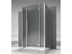 - Custom tempered glass shower cabin TIQUADRO QG+QM+QG - VISMARAVETRO
