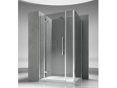 - Corner custom tempered glass shower cabin TIQUADRO QM+QG - VISMARAVETRO