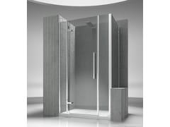 - Custom tempered glass shower wall panel TIQUADRO QM+QP - VISMARAVETRO