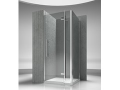 - Corner custom tempered glass shower cabin TIQUADRO QN+QG - VISMARAVETRO