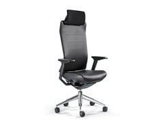 - Leather task chair with 5-Spoke base TNK FLEX | Leather task chair - ACTIU
