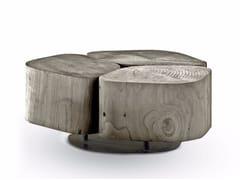 - Cedarwood garden side table TOBI 3 OUTDOOR - Riva 1920
