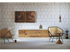 - Wooden sideboard with doors TOLA | Wooden sideboard - Miniforms