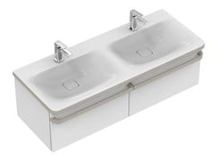 - Double wall-mounted vanity unit with drawers TONIC II 120 cm - R4305 - Ideal Standard Italia