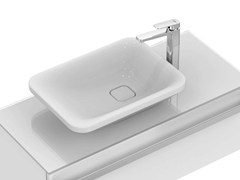 - Countertop rectangular single ceramic washbasin TONIC II 55 cm - K0833 - Ideal Standard Italia