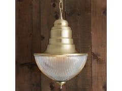 - Direct light handmade brass pendant lamp TOP HAT PRISMATIC NAUTICAL PENDANT - Mullan Lighting
