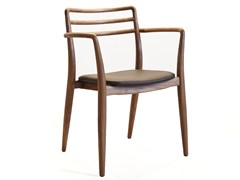 - Stackable solid wood chair with armrests TOR | Chair with armrests - Dare Studio