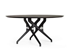 - Round wooden table TORSO | Wooden table - Potocco