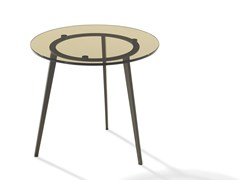 - Round glass coffee table TOSCA | Glass coffee table - Draenert
