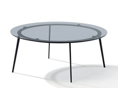 - Round stained glass coffee table TOSCA | Stained glass coffee table - Draenert