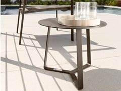 - Low round garden side table TOUCH | Round coffee table - Talenti