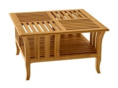 - Deco low teak coffee table TOURNESOL | Square coffee table - ASTELLO