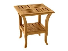 - Deco square teak garden side table TOURNESOL | Square garden side table - ASTELLO