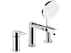 - Bathtub mixer with hand shower TRASPARENZE 34234 - Gessi