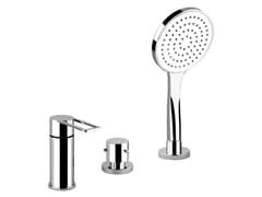 - 3 hole bathtub mixer with hand shower TRASPARENZE 34243 - Gessi