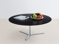 - Low oval MDF coffee table TRE 90 - MOX