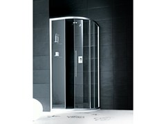 - Semicircular glass shower cabin with sliding door TRENDY - 8 - INDA®