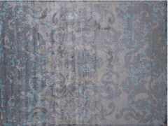 - Patterned handmade rectangular rug TRIANON SFUMATO AZURIN - EDITION BOUGAINVILLE