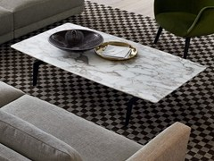 - Contemporary style low rectangular marble coffee table for living room TRIBECA | Rectangular coffee table - Poliform