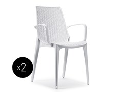 - Stackable polycarbonate chair with armrests TRICOT | Chair with armrests - SCAB DESIGN