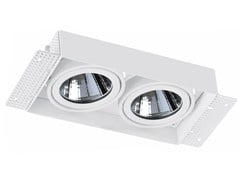 - Faretto a LED rettangolare in alluminio da incasso TRIMLESS 2x33W - LED BCN Lighting Solutions