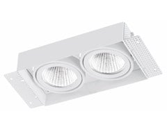 - Faretto a LED rettangolare in alluminio da incasso TRIMLESS 2x9W - LED BCN Lighting Solutions