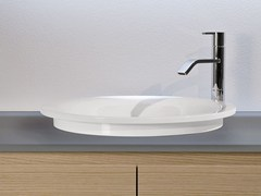 - Round Ceramilux® washbasin TRIOTONDO - Antonio Lupi Design®