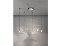 - LED crystal pendant lamp TRIPLA 6 SPOTS - Fabbian