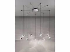 - LED crystal pendant lamp TRIPLA 9 SPOTS - Fabbian