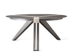 - Round steel and wood table TRIVOLTA - Officine Tamborrino